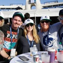 Nov 26 - Kevin Dillon, Jake Busey, Gary Busey (Credit - Will Navarro, LA Rams)