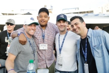 Nov 26 - Omar Benson Miller, James Van Der Beek (Credit - Will Navarro, LA Rams)