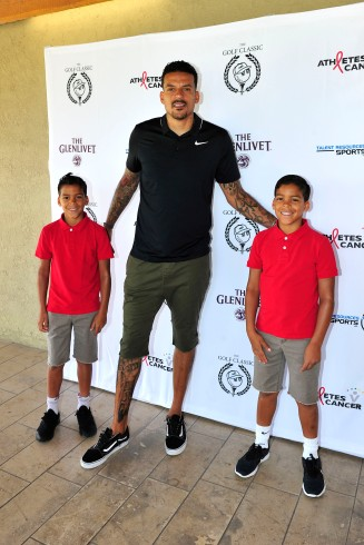 , Los Angeles, CA - 7/16/2018 - The Golf Classic powered by Glenlivet, Malbon Golf, and Talent Resources Sports to benefit Athletes vs. Cancer at Braemar Country Club. -PICTURED: Matt Barnes with sons -PHOTO by: Michael Simon/startraksphoto.com -MS_10455 Editorial - Rights Managed Image - Please contact www.startraksphoto.com for licensing fee Startraks Photo New York, NY For licensing please call 212-414-9464 or email sales@startraksphoto.com Startraks Photo reserves the right to pursue unauthorized users of this image. If you violate our intellectual property you may be liable for actual damages, loss of income, and profits you derive from the use of this image, and where appropriate, the cost of collection and/or statutory damages.